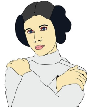 Woman Behind Princess Leia